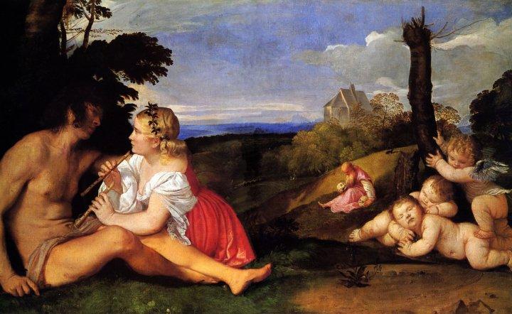 le tre età della vita Tiziano