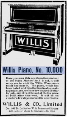 willis 10000 Montreal Daily Witness May 17 1913