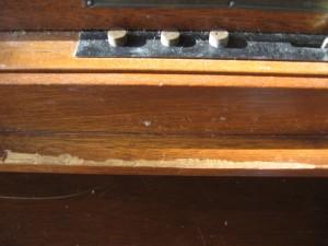 Control rail detail