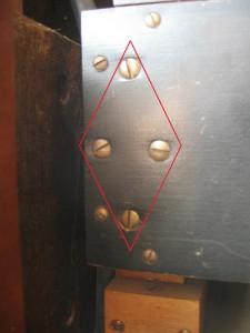 bass side stack screws, x4