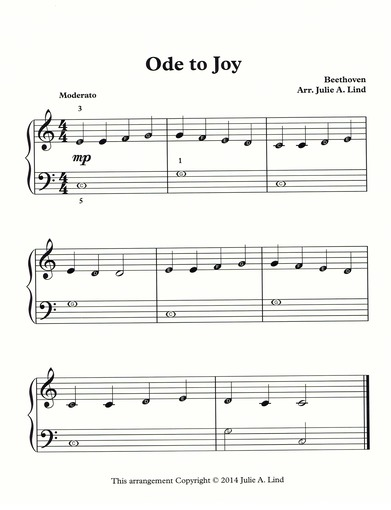 Ode To Joy Free Beginning Sheet Music