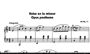 chopin waltz in a minor