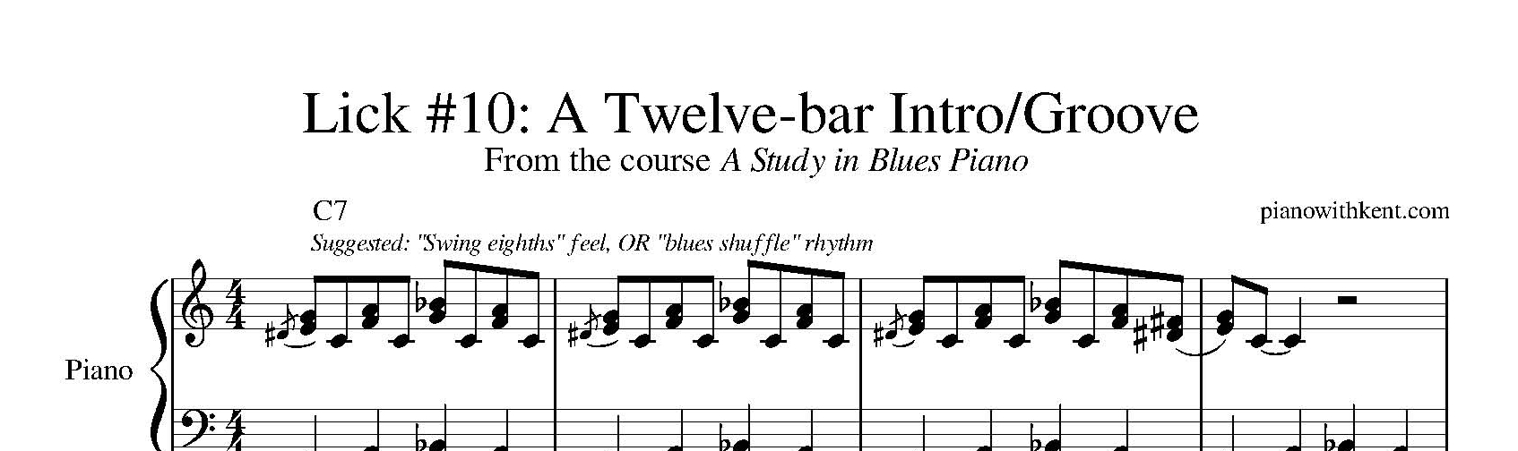Sheet Music: Lick #10 from