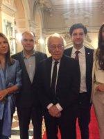 ORA DE CALIGRAFIE. Echipa PiArt Vision, împreună cu Mihai Șora și cu Liviu Jicman