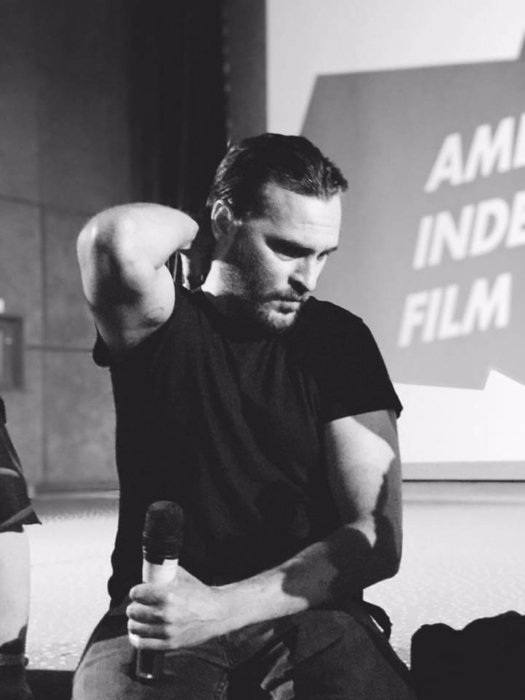 Joaquin Phoenix la Cinema PRO, la American Independent Film Festival, prima ediție. Foto: Oana Ivan