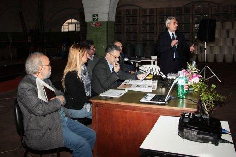 Il professor Aldo D'Antico, Chiara Coppola e Fernando D'Aprile, direttore di Piazzasalento