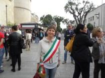 Paola De Mitri vicesindaco di Alezio - Manifestazione antiraket Lecce 2014
