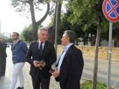Antonio Coppola sindaco di Tricase Manifestazione antiraket Lecce 2014