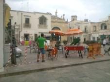 Allestimento del set cinematografico - foto di Lorenzo Falangone