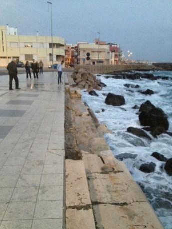 I danni causati dalla mareggiata