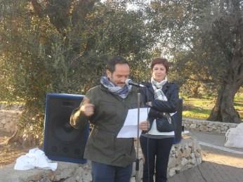 Andrea De Iaco, ideatore dell'opera e Marilena De Stasio, presidente di Ionia