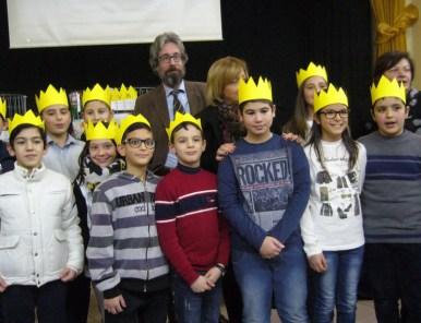 I ragazzi con il docente universitario Bruno Maida