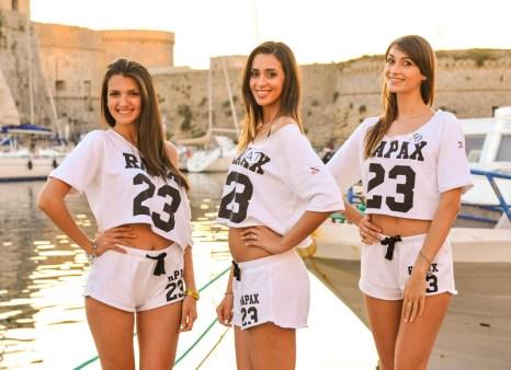 Le tre pugliesi in gara: Giorgia e Valeria insieme a Roberta Musarò (al centro) di Brindisi