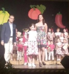 """La vincitrice Sofia Trianni con la canzone """"Tartarumba"""""""