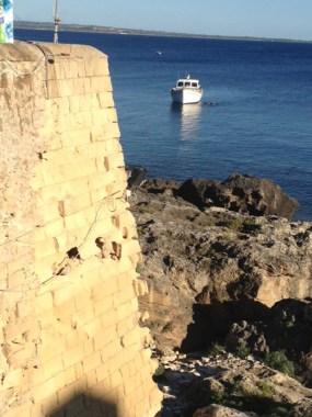 Riviera diaz bastione a rischio crollo gallipoli