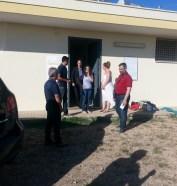 la visita al campo dei migranti del Sindaco Risi e dell'on. Capone