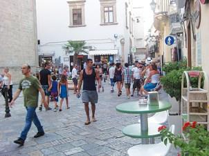 turisti nel centro storico 2012 gallipoli