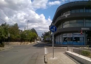 l nuovo divieto di svolta a destra su via Matino per via Firenze