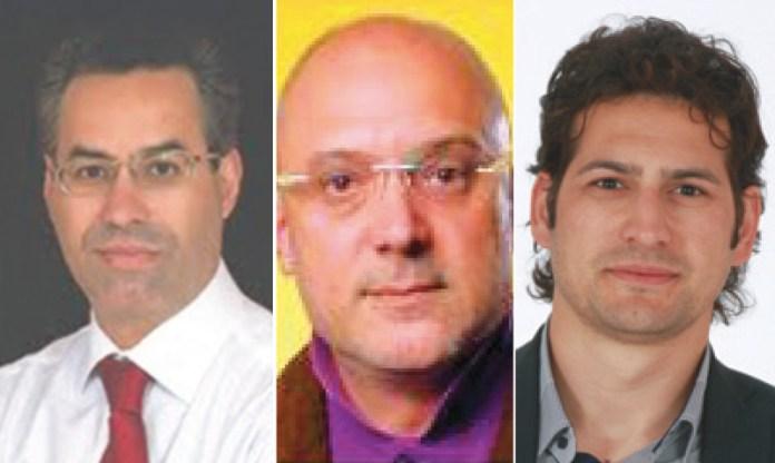 Da sinistra: il sindaco Antonio Renna, Antonio Venneri e Davide Stamerra
