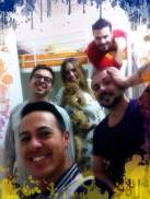 qualche istante prima della partenza Emanuele, Ricky,Luana, Roberto Treglia e Alberto Greco