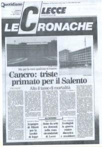 """Questa pagina monotematica di """"Quotidiano"""" è del 25 gennaio 1989"""