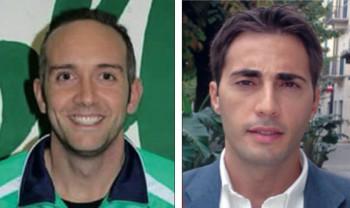 Da sinistra il mister Alessandro Marte e il presidente Cosimo Adamo. Il 30 ottobre comincerà il campionato di serie D