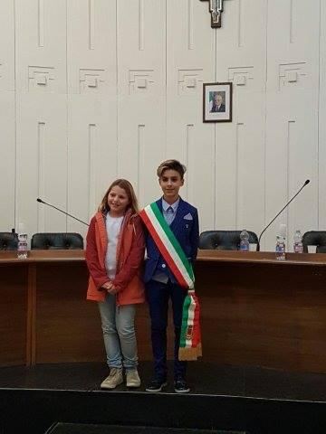 Consiglio comunale baby 2016 Casarano - Giorgia Pomarico e Giuseppe Musc...