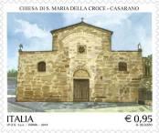 Il francobollo dedicato alla chiesetta di Santa Maria della Croce