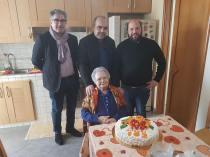 Addolorata Carachino con il sindaco Stefano Minerva