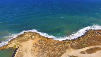 Il mare a due colori in prossimità dello sbocco del depuratore