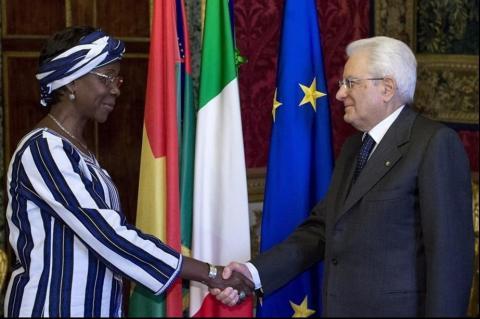 Ouedraogo con il presidente Mattarella