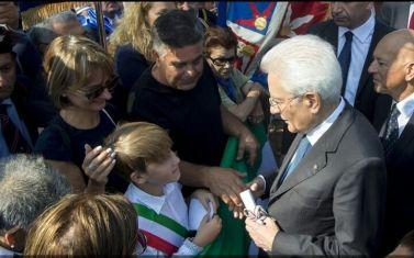 il presidente del Consiglio comunale ragazzi Alessandro Mastroleo col Presidente Mattarella