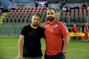 Da sinistra Marcello de Paolis (direttore sportivo) e Gianluca Politi (allenatore)