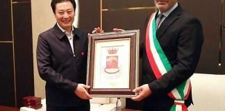La cerimonia in Cina
