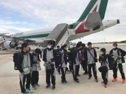 l'arrivo della squadra giapponese