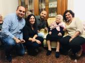 Nonna Amelia Lerario con il sindaco Filoni