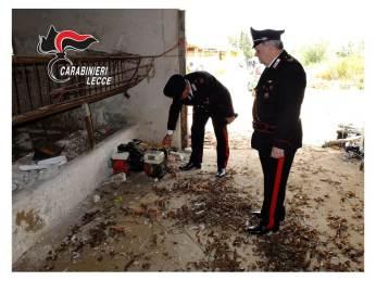 Seclì: i carabinieri nella costruzione sequestrata