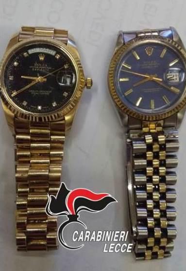 Taurisano, i Rolex rubati