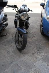 La moto rubata per la rapina
