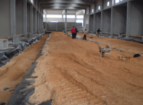 Uno scorcio del'impianto biostabilizzatore