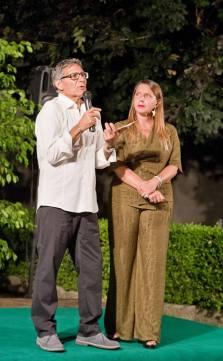Rossano Rizzo con l'assessore alla cultura Deborah Fusetti