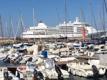 La Silver Whisper in porto a Gallipoli