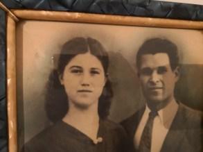 Luigi De Nuzzo in una foto d'epoca con la moglie Filomena Bellisario