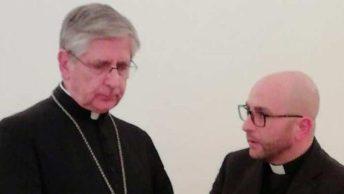 Il vescovo Fernando Filograna e don Giuseppe Venneri
