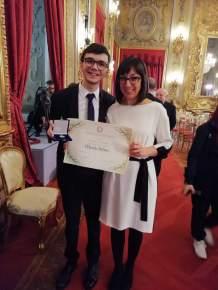 Davide con Michela Santoro