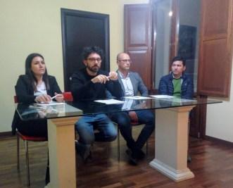 Il Comitato con Roberta Manca, Marco Raho, Marco De Franco e Gerardo Cisternino