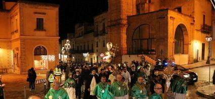 Casarano, San Giovanni in processione (foto Pejrò)