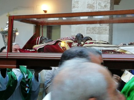 Casarano, l'arrivo delle spoglie di San Giovanni elemosiniere