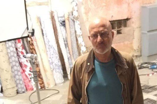 Claudio Bisio sul set di Cops a Nardò