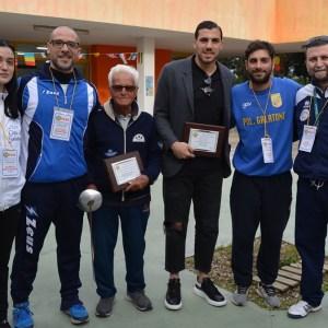 Gli istruttori della Polisportiva Galatone con Paolo Cazzato e Marco Bleve
